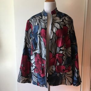 Alfred dunner multi color floral jacket size:18W